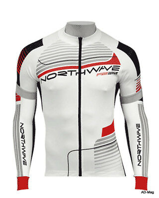 Maillot + Manchettes Vélo Homme NORTHWAVE 89121020 Speed Jersey Blanc T. L NEUF
