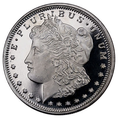 Morgan Dollar Design 1/2 Troy Oz .999 Fine Silver Round NEW MINT