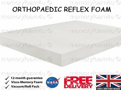Foam Mattress Reflex Orthopaedic 4Ft6 Double 5Ft King Size Like Memory Matress