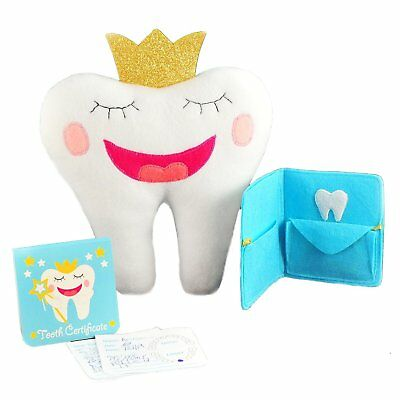 "Tooth Fairy Pillow With Notepad And Keepsake Pouch. 3 Piece Set Includes 9"" x 8"""