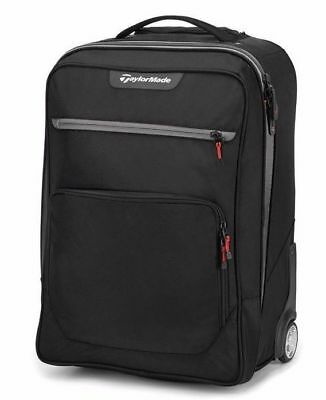 New TaylorMade Players Rolling Carry On Travel Bag Suitcase Luggage - Black