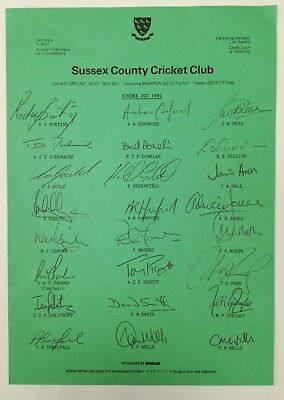 Sussex County Cricket Club Autographs 1991