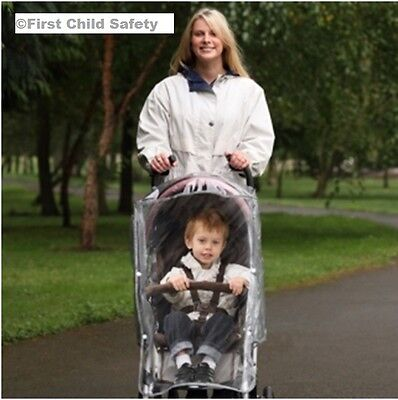 Diono Universal Stroller Buggy Pushchair Raincover with Pocket & Carry Case -NEW