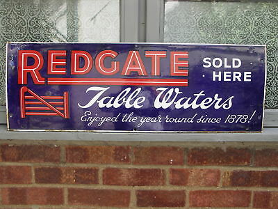 An ORIGINAL Redgates Mineral Waters Enamel Sign