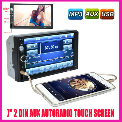 """7"""" 2 DIN Autoradio Touch Audio Stereo Camera Android Bluetooth USB/TF+AUX-IN MP5"""