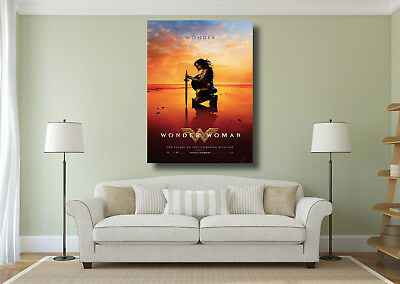 Wonder Woman DC Super Hero New Movie Poster Wall Art BOX CANVAS Print