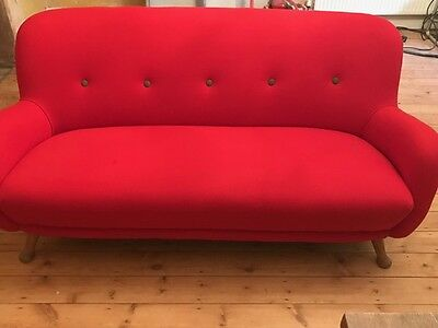 Vintage Danish Button Back Sofa