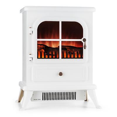 Klarstein Electric Free Standing Fireplace Decor Living Room 1850W Heating White