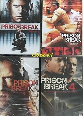Prison Break Da 1 A 4  - Dvd - Italiani Sigillati