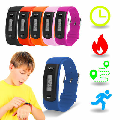 Kids Fitness Tracker Activity Wristband 6 Colours Waterproof Pedometer
