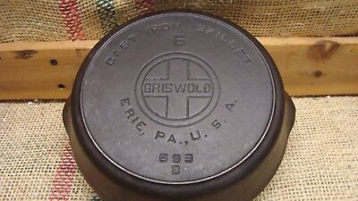 """Griswold #6 Large Logo Cast Iron Skillet with Heat Ring  """"699"""""""