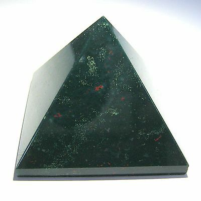 Powerful 87 Grams Bloodstone Feng Shui Bagua Crystal Pyramid Gift Reiki Healing