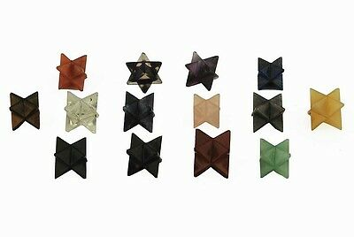 Beautiful Lot Of Ten Merkaba Stars Reiki Crystal Healing Women Men Gift Feng Shu