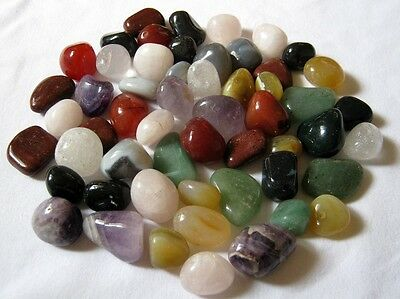 Pure Healing Multi Crystal Tumble Stones (10) Home Office Gift Reiki Feng Shui