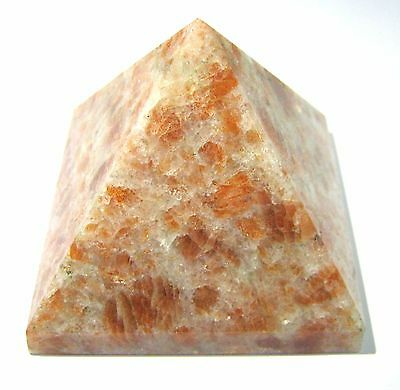 Sunstone 192 Grams Feng Shui Pyramid Home Office Gift Energy Crystal Healing