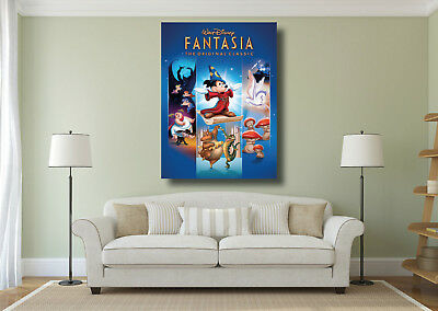 Fantasia Mickey Mouse Disney Classic Movie Large Wall Art Poster Print - A0 A1