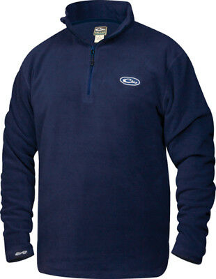 Drake Outdoors DW1081NVY-XL Men's X-Large Waterfowl 1/4 Zip Fleece Pullover Navy
