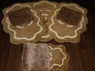 Romany Gypsy Washables Travelers Mats Set Of 4 Beige/cream Shaped All Colours