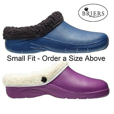 Briers Thermal Fur Fleece Removable Lining Garden Clogs Cloggies Free Delivery