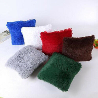 Soft Plush Square Pillow Case Sofa Waist Throw Cushion Cover Home Decoration