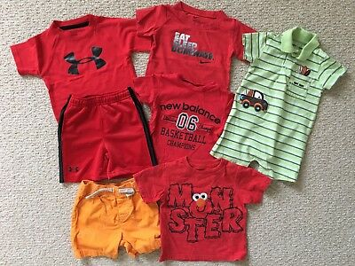 Lot Under Armor Nike New Balance Baby Boy T-Shirts Tops Romper 12 Months