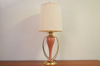 Mid Century Modern Neo Classical Elegant Brass and Porcelain Lamp by Chapman