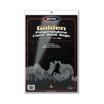 100 Bcw Golden Age Comic Book 2 Mil Acid Free Archival Poly Bags