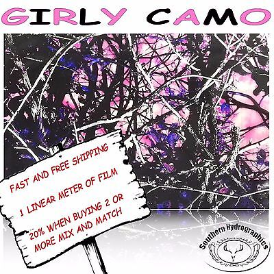 Hydrographic Film Water Transfer Hydrodipping Hydro Dip Girly Camo