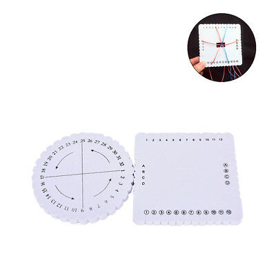 Handmade White Home Braiding Disk DIY Braiding Plate Sewing Tools