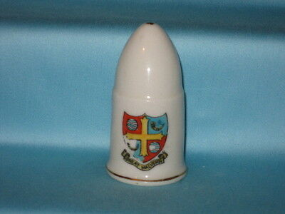 U/M WW1 Naval Shell - GREAT MALVERN crest