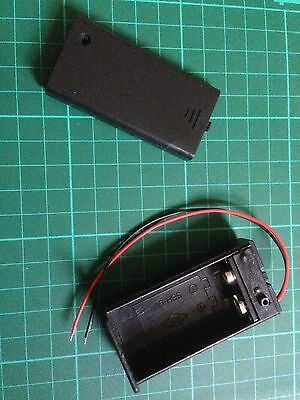 9 Volt Battery Box With On / Off Switch FREE POST