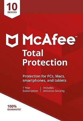 McAfee Total Protection 2018, 5 Multi-Devices, 1 Year (LATEST DOWNLOAD VERSION)