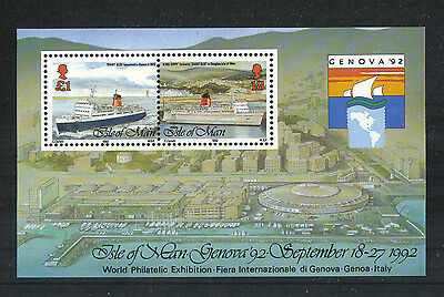 Isle of Man 1992 Manx Harbors ss--Attractive Landscape/Ship Topical (523) MNH