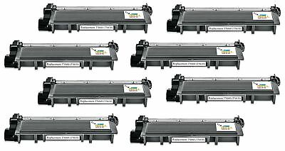 8PK Brother TN660 Black Compatible Toner for DCP-L2520 HL-L2300 MFC-L2700