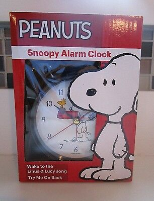 PEANUTS Snoopy Alarm Clock Wake to Lucy & Linus Song *FREE SHIPPING*