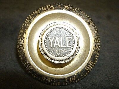 Vintage Yale Safe Combination Lock Dial 0-99 Mosler Diebold Cary Herring Hall