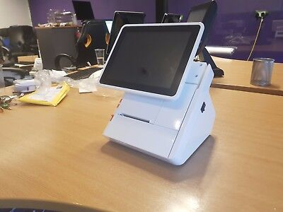 White Touchscreen Point of Sale Terminal with inbuilt Thermal Printer - Android