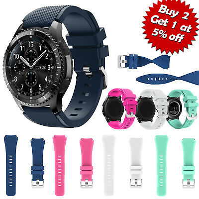 22mm Silicone Bracelet Strap Watch Band For Samsung Gear S3 Frontier/Classic XI