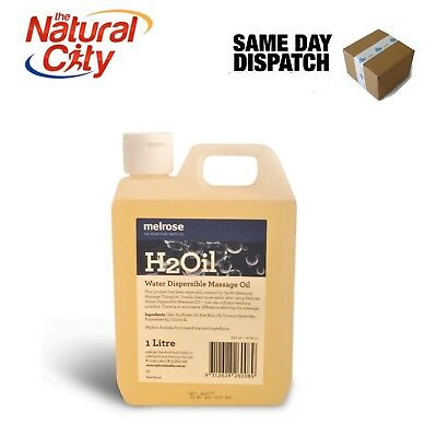 Melrose H2O Water Dispersable Massage Oil 1LT - SAME DAY DISPATCH