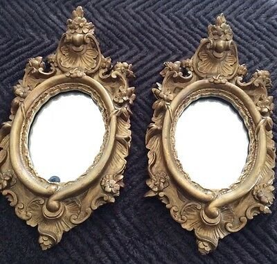 Pair Of Antique - Friedman Brothers -F.B.- Gold Guilded Guilt Gesso - NY