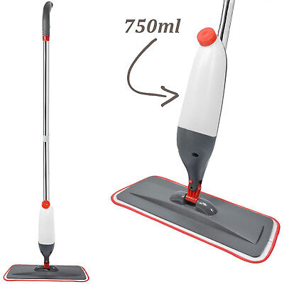 Spray Mop Water Spraying Floor Cleaner Tiles Microfibre Marble Kitchen Reusable