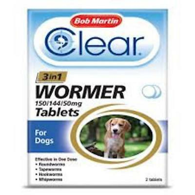 Bob Martin 3 in 1 Dewormer Tablets for Dogs - 2 Tablets!