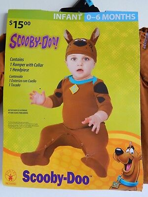Baby Halloween NEW 2-piece Costume SCOOBY-DOO, infant 0-6 months