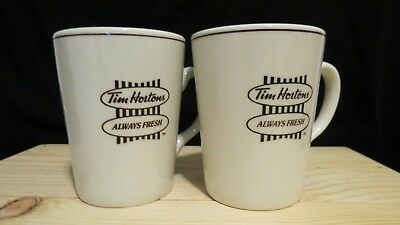 Tim Hortons LOT OF 2 MUGS Always Fresh White Steelite England Ceramic