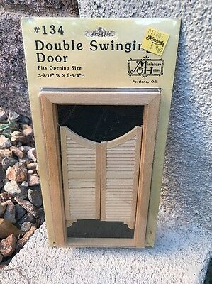 Vintage double swinging door #34 By Miniature House. Sealed New