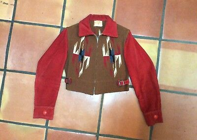 VINTAGE CHIMAYO NATIVE AMERICAN woven NAVAJO Jacket Womens S-M