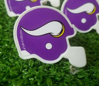 Minnesota Vikings Cupcake Toppers Rings Birthday Cake NFL Lot Of 12 Mini Helmet