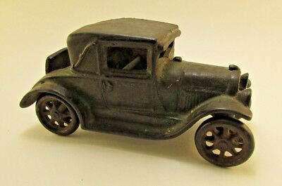 RARE Antique 1920s Arcade Model A Coupe Cast Iron Toy with Rumble Seat #116