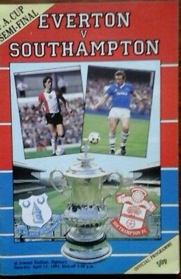 Everton V Southampton 14/4/1984 Fa Cup Semi Final