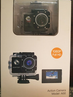 APEMAN A66 Action Sport Camera Full HD 1080P Waterproof w/ 170 Wide Angle - NEW